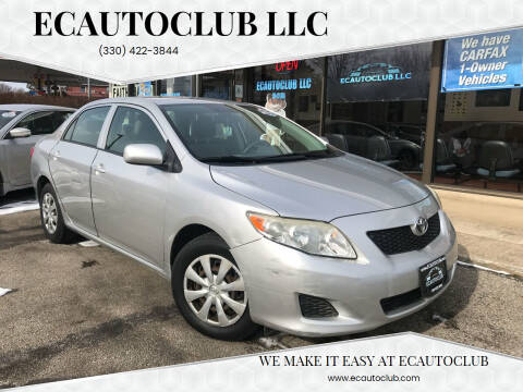 2009 Toyota Corolla for sale at ECAUTOCLUB LLC in Kent OH