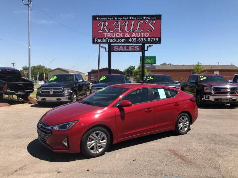 2019 Hyundai Elantra for sale at RAUL'S TRUCK & AUTO SALES, INC in Oklahoma City OK
