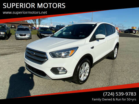 2017 Ford Escape for sale at SUPERIOR MOTORS in Latrobe PA