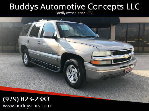 2003 Chevrolet Tahoe for sale at Buddys Automotive Concepts LLC in Bryan TX