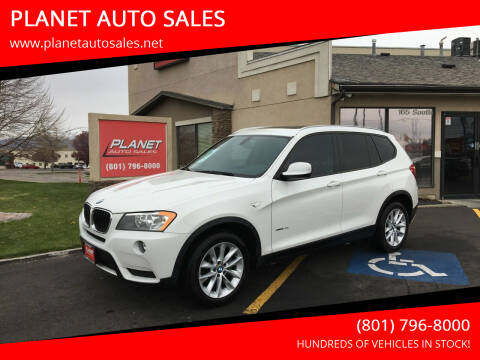 2013 BMW X3 for sale at PLANET AUTO SALES in Lindon UT