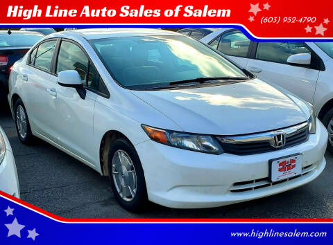 2012 Honda Civic for sale at High Line Auto Sales of Salem in Salem NH
