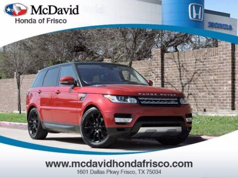 2016 Land Rover Range Rover Sport for sale at DAVID McDAVID HONDA OF IRVING in Irving TX