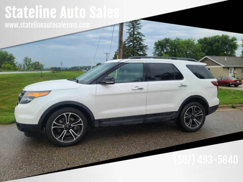 2014 Ford Explorer for sale at Stateline Auto Sales in Mabel MN