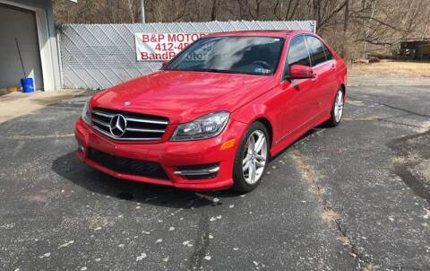 2014 Mercedes-Benz C-Class for sale at B & P Motors LTD in Glenshaw PA