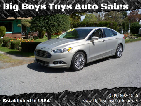 2015 Ford Fusion for sale at Big Boys Toys Auto Sales in Spokane Valley WA