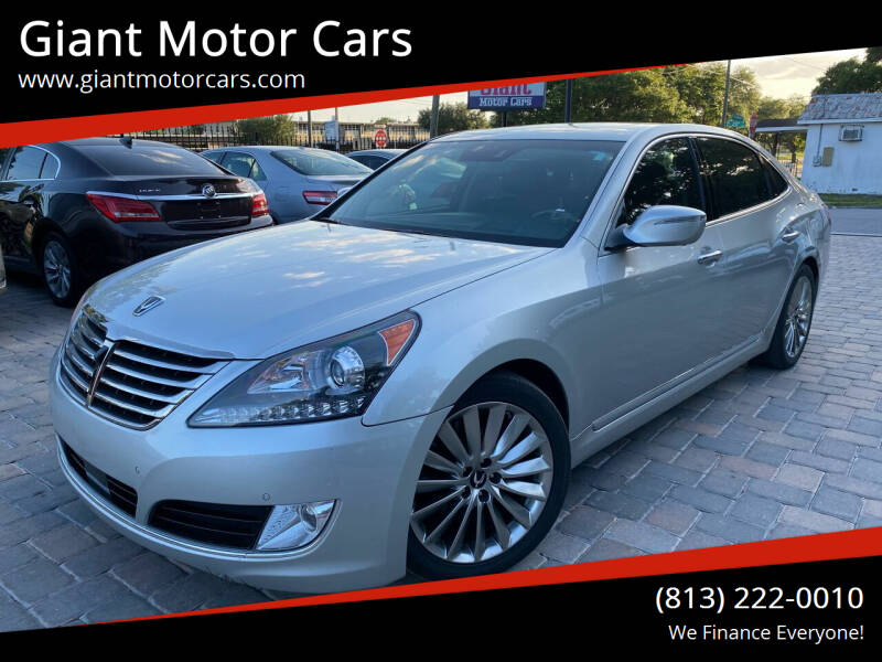 2014 Hyundai Equus for sale at Giant Motor Cars in Tampa FL