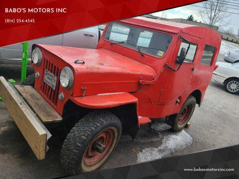 1954 Willys Jeepster for sale at BABO'S MOTORS INC in Johnstown PA
