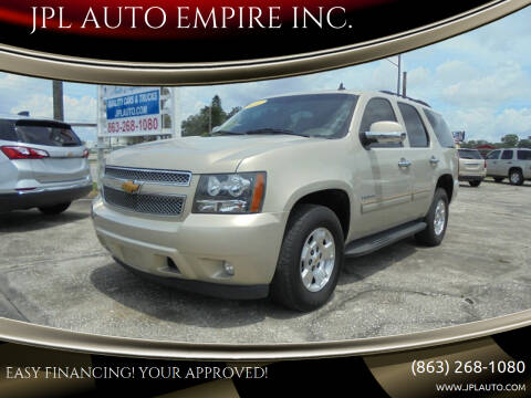 2012 Chevrolet Tahoe for sale at JPL AUTO EMPIRE INC. in Auburndale FL