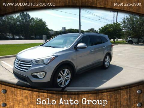 2015 Hyundai Santa Fe for sale at Solo Auto Group in Mckinney TX