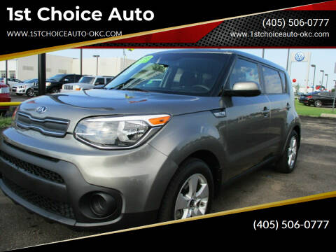 2018 Kia Soul for sale at 1st Choice Auto L.L.C in Oklahoma City OK