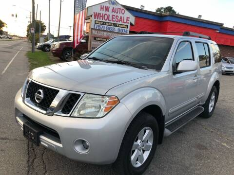2008 Nissan Pathfinder for sale at HW Auto Wholesale in Norfolk VA