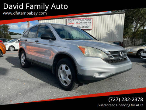 2010 Honda CR-V for sale at David Family Auto in New Port Richey FL