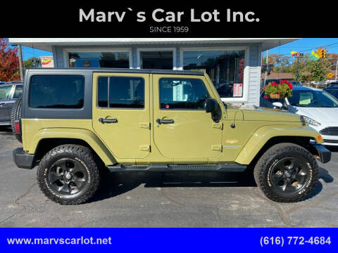 2013 Jeep Wrangler Unlimited for sale at Marv`s Car Lot Inc. in Zeeland MI