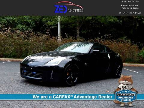 2005 Nissan 350Z for sale at Zed Motors in Raleigh NC