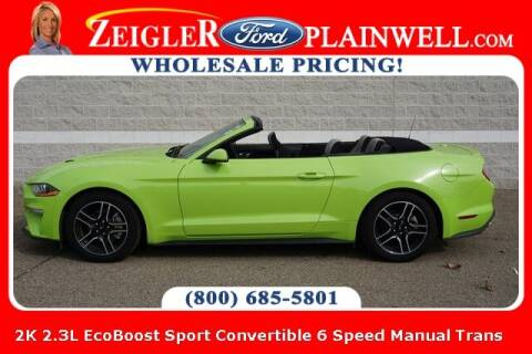 2020 Ford Mustang for sale at Zeigler Ford of Plainwell- Jeff Bishop in Plainwell MI