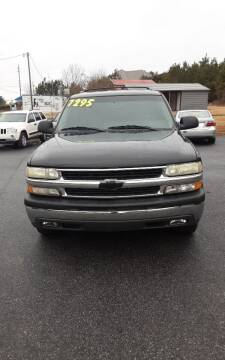 2003 Chevrolet Tahoe for sale at Mathews Used Cars, Inc. in Crawford GA