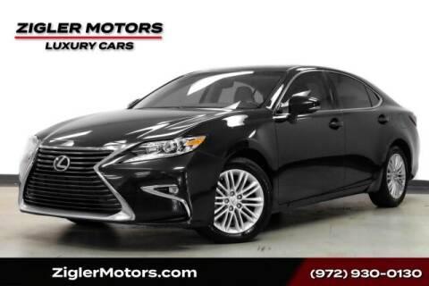 2016 Lexus ES 350 for sale at Zigler Motors in Addison TX