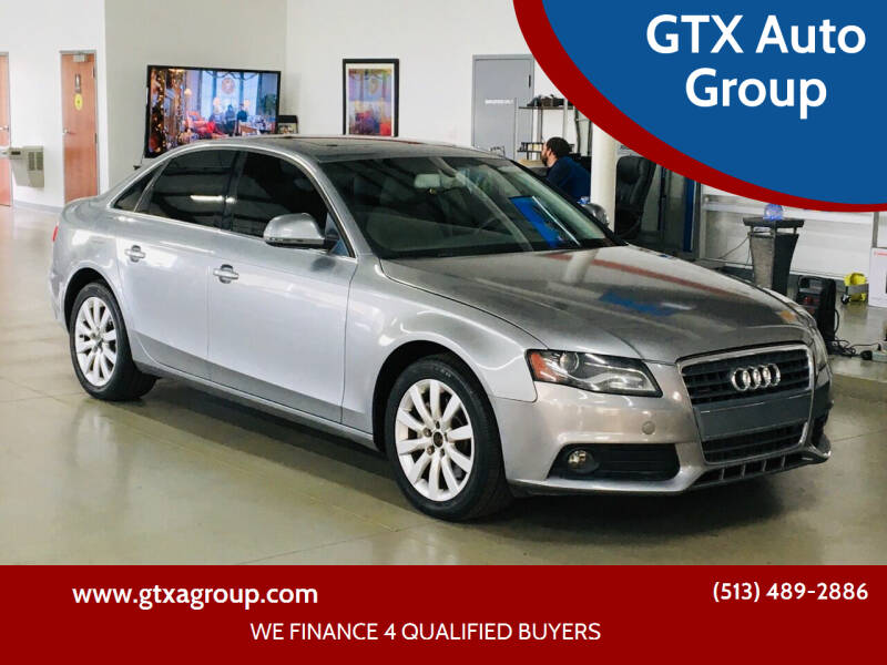 2009 Audi A4 for sale at GTX Auto Group in West Chester OH