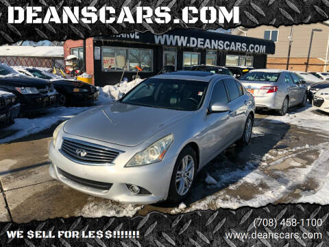 2010 Infiniti G37 Sedan for sale at DEANSCARS.COM in Bridgeview IL