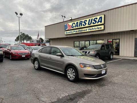2012 Volkswagen Passat for sale at Cars USA in Virginia Beach VA