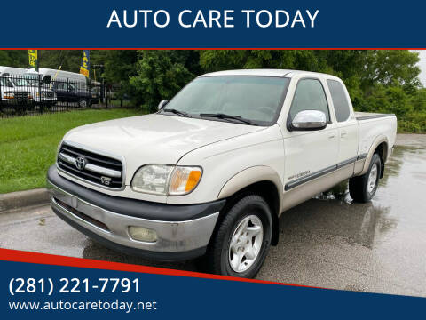 2002 Toyota Tundra for sale at AUTO CARE TODAY in Spring TX