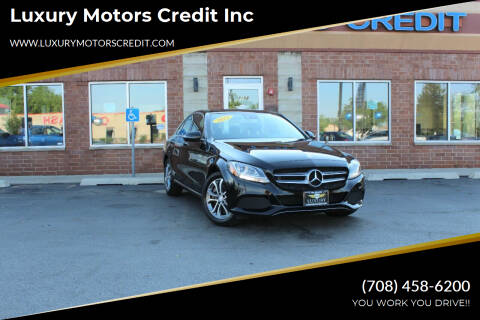 2017 Mercedes-Benz C-Class for sale at Luxury Motors Credit Inc in Bridgeview IL