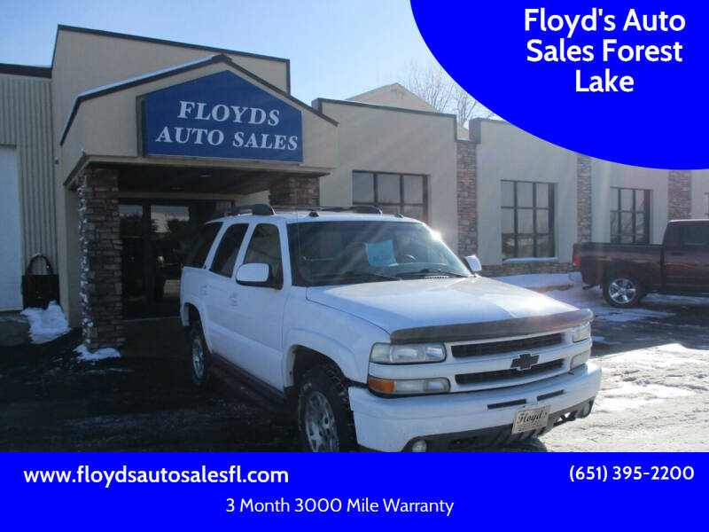 2004 Chevrolet Tahoe for sale at Floyd's Auto Sales Forest Lake in Forest Lake MN