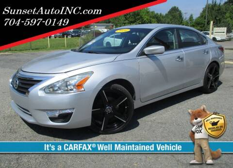 2014 Nissan Altima for sale at Sunset Auto in Charlotte NC