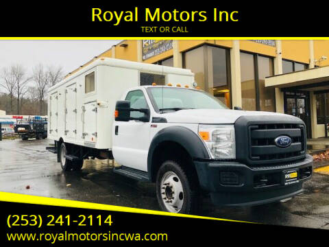 2016 Ford F-550 Super Duty for sale at Royal Motors Inc in Kent WA