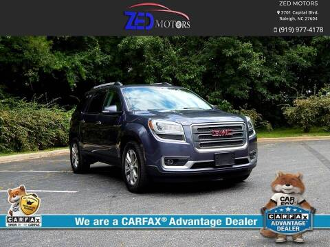 2014 GMC Acadia for sale at Zed Motors in Raleigh NC
