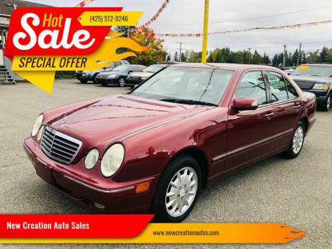 2001 Mercedes-Benz E-Class for sale at New Creation Auto Sales in Everett WA