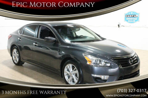 2013 Nissan Altima for sale at Epic Motor Company in Chantilly VA