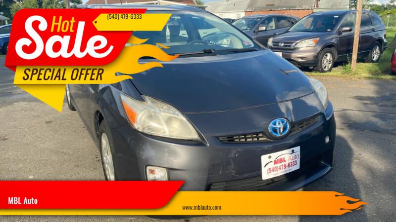 2010 Toyota Prius for sale at MBL Auto in Fredericksburg VA