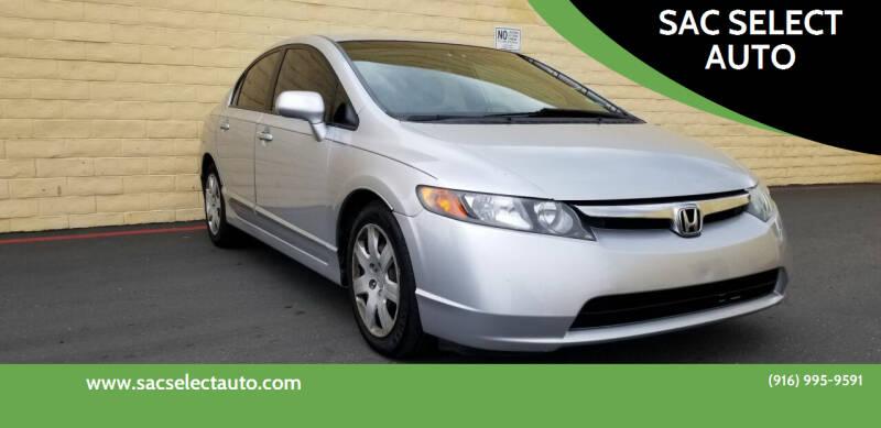 2007 Honda Civic for sale at SAC SELECT AUTO in Sacramento CA