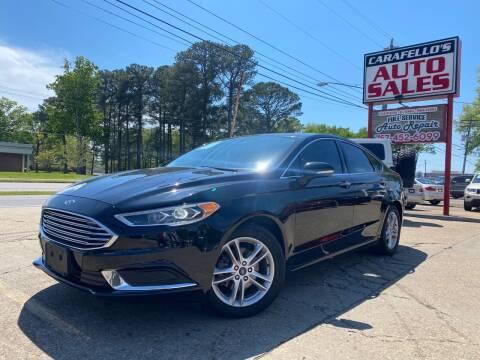 2018 Ford Fusion for sale at Carafello's Auto Sales in Norfolk VA