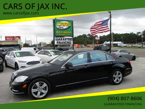 2010 Mercedes-Benz S-Class for sale at CARS OF JAX INC. in Jacksonville FL
