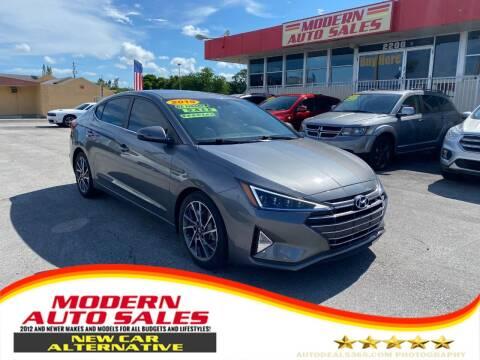 2019 Hyundai Elantra for sale at Modern Auto Sales in Hollywood FL