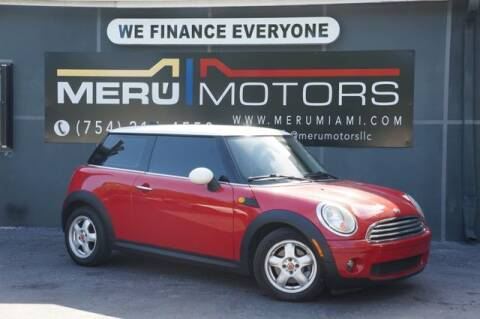 2010 MINI Cooper for sale at Meru Motors in Hollywood FL