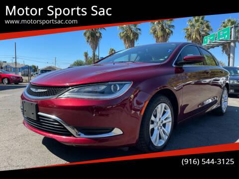 2015 Chrysler 200 for sale at Motor Sports Sac in Sacramento CA