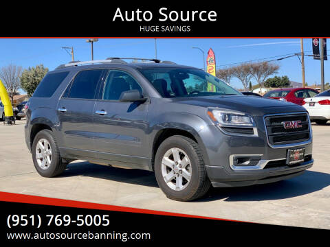 2013 GMC Acadia for sale at Auto Source in Banning CA