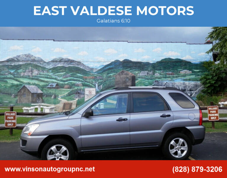 2009 Kia Sportage for sale at EAST VALDESE MOTORS / VINSON AUTO GROUP in Valdese NC