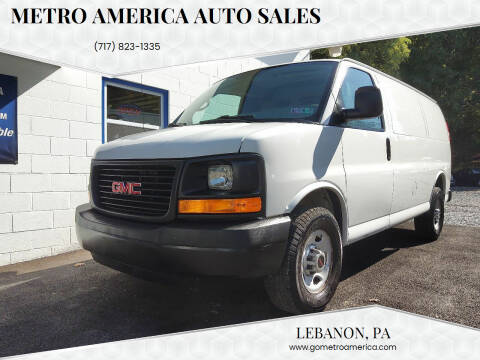 2013 GMC Savana Cargo for sale at METRO AMERICA AUTO SALES of Lebanon in Lebanon PA