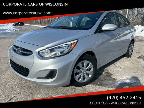 2017 Hyundai Accent for sale at CORPORATE CARS OF WISCONSIN - DAVES AUTO SALES OF SHEBOYGAN in Sheboygan WI