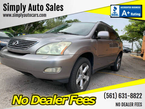 2005 Lexus RX 330 for sale at Simply Auto Sales in Palm Beach Gardens FL