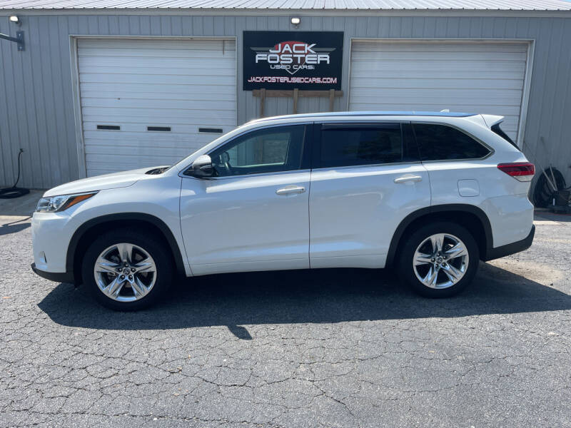 2017 Toyota Highlander for sale at Jack Foster Used Cars LLC in Honea Path SC