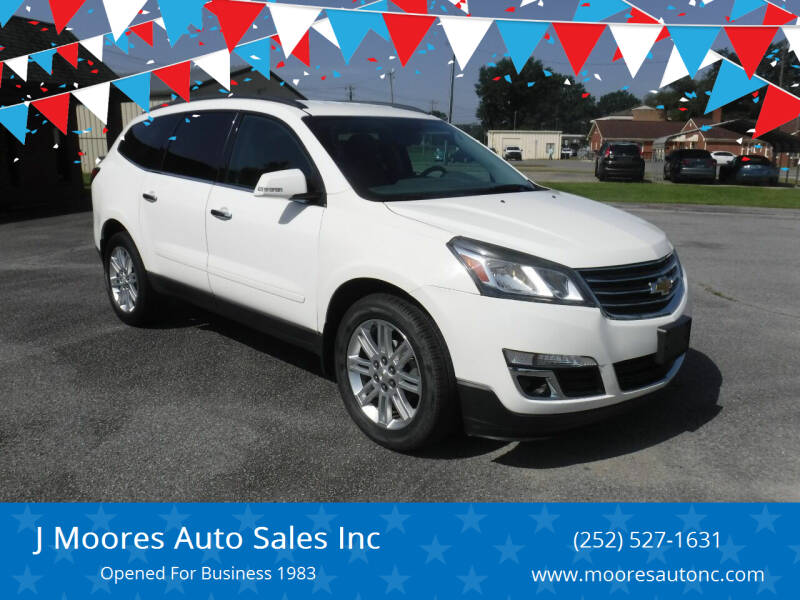 2015 Chevrolet Traverse for sale at J Moores Auto Sales Inc in Kinston NC
