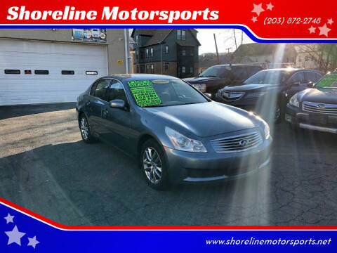 2008 Infiniti G35 for sale at Shoreline Motorsports in Waterbury CT