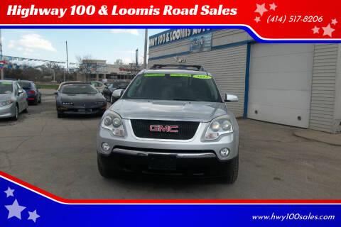 2012 GMC Acadia for sale at Highway 100 & Loomis Road Sales in Franklin WI