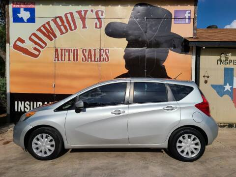 2015 Nissan Versa Note for sale at Cowboy's Auto Sales in San Antonio TX